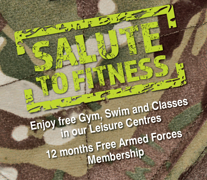 12 months' free leisure centre membership for servicemen and women