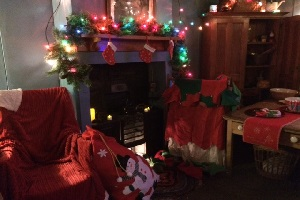 Christmas Cottage Fireplace