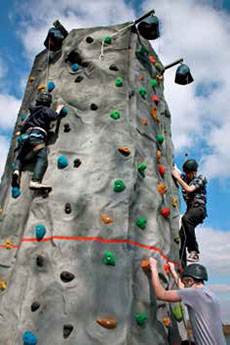 Exciting times on our mobile climbing wall